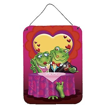 Caroline'S Treasures Frog Valentine'S Day Date Wall Or Door Hanging Prints Aph2477Ds1216, 16Hx12W, Multicolor