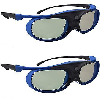 FengChun 3D Brille, 3D Aktiver Shutter DLP Link Wiederaufladbare Brille für 3D DLP Link Projektor