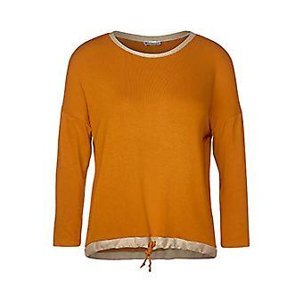 Street One 315250 3/4 Arm und Tunnelzug im Saum T-Shirt, Foxy Caramel, 40 Woman