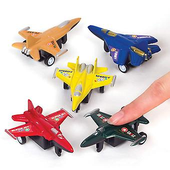 FengChun AT205 Plane Pull Back Racer (Pack von 6) -Spielzeug für Kinder, sortiert