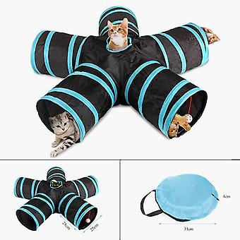 5Holes Pet Cat Tunnel Funny Toys for cats Foldable Cat Toys Interactive Cat Rabbit Animal Play Games
