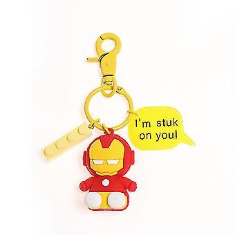 Iron Man Keychain Key Ring Men Avengers Doll Pendant Key Chain Circle Ornaments