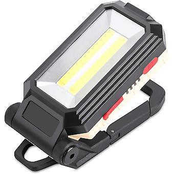 Wiederaufladbarer LED-Bauprojektor mit magnetischer Basis und Hängehaken, 4 Helligkeitsmodi