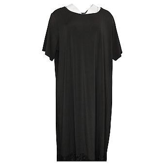 Antthony Short-Sleeve Drop Waist Maxi Dress Black 716301