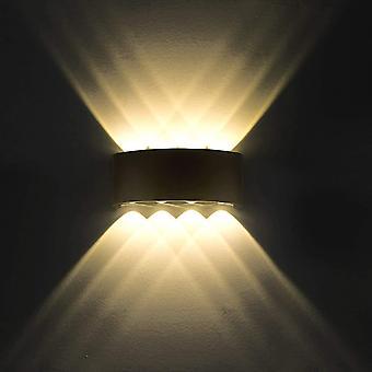 8W led wall lamp modern wall lights ip65 waterproof wall light fixture aluminum(warm white) dt6207