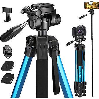 Wokex 72-Zoll-Kamera-Stativ Aluminium T72 Max Höhe 182cm - Leichtes Stativ Einbeinstativ Kompakt für