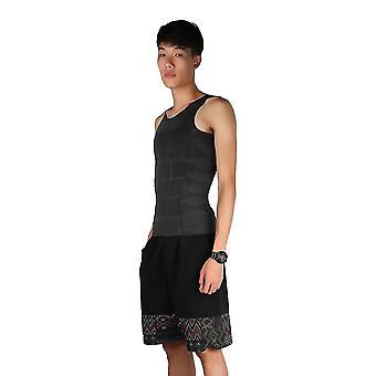 Homens Corpo Magro Shaper Barriga Gordurosa Colete camisa compressão compressão Tops