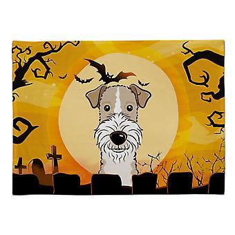 Caroline's Treasures BB1805PLMT Halloween Draht behaarter Fox Terrier Stoff Tischset, Multicolor