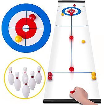 Curling Spiel Tabletop Shuffleboard Familienspiele für Kinder und Erwachsene, Brettspiele Tischspiel