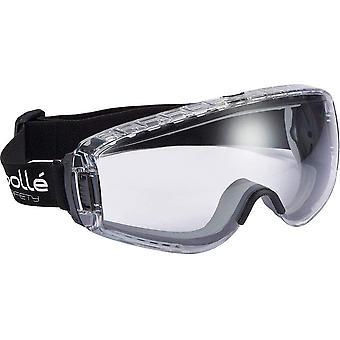 PILOPSI Schutzbrille Pilot, Einheits Größe, Klar/Schwarz