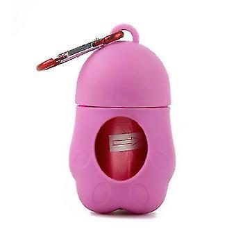 Portable pet garbage bag cat and dog toilet picker(Pink)