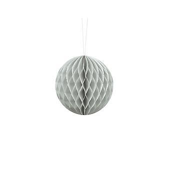 10cm Light Grey Tissue Paper Honeycomb Ball Wedding Party Decoration