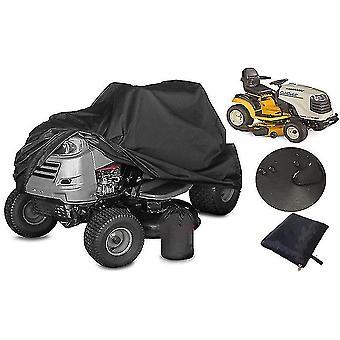 Oxford Cloth Black Lawn Mower Cover Waterproof Dust Cover Sunscreen Lawn Mower Cover(XXL