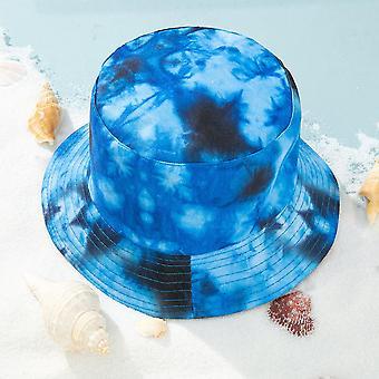 2-5 سنة قبعة دلو تنفس التعادل مصبوغ قبعة الأطفال دلو الشمس حماية الطفل قبعة الشمس
