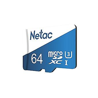 Netac P500 64GB U3 במהירות גבוהה אולטרה HD כרטיס זיכרון וידאו כרטיס TF