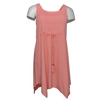 الدنيم وشركاه ملابس السباحة شاطئ منديل هيم السباحة اللباس الوردي A375174