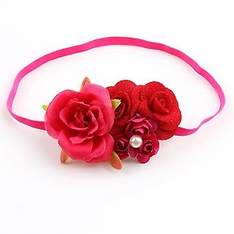 Baby Floral Headbands Hair Bows Elastic Bands For Newborn Infant Toddler Hairbands