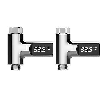 Levou termômetro de chuveiro digital a monitorar a temperatura da água