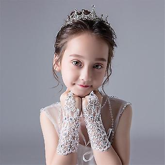 Floral Design Princess Lace Gloves For Dress