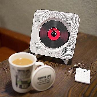 Nástěnný cd přehrávač prostorový zvuk Fm Rádio Bluetooth Usb Mp3 Disk Přenosný hudební přehrávač Remote