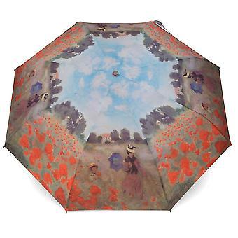 Paraply automatiskt Pocket paraply ämnesfältet i vallmo Claude Monet