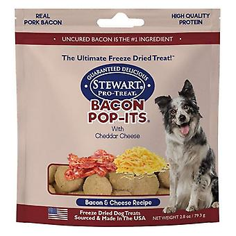 Stewart Bacon Pop-Its Bacon and Cheese Recipe Freeze Dried Dog Treat - 2.8 oz