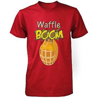 Granaat wafel Boom mannen grafische Shirt in rood humoristische T-shirt grappige Unisex Tshirt grappig