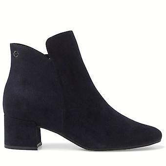 Tamaris Blue Women's Ankle Boot With Comfortable Heel