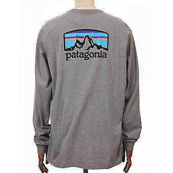 Patagonia L/s Fitz Roy Horizons Responsibili Tee - Gravel Heather