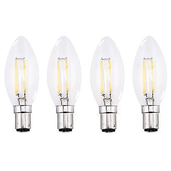 Flood spot lights 4-pack 4w sbc b15 filament led candelabra bulb warm white 2700k small bayonet led vintage filament