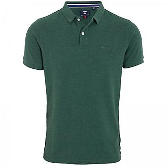 Superdry Classic Pique Polo Heritage Pine Green