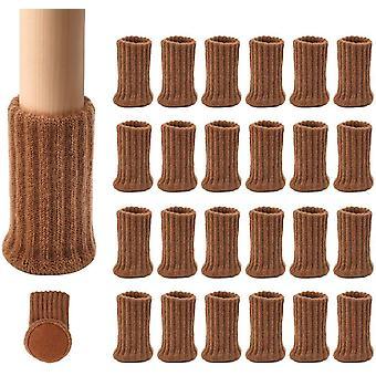 24 Pack Stuhl Bein Protektoren gestrickte Möbel Füße Socken dicke Boden Möbelschuhe