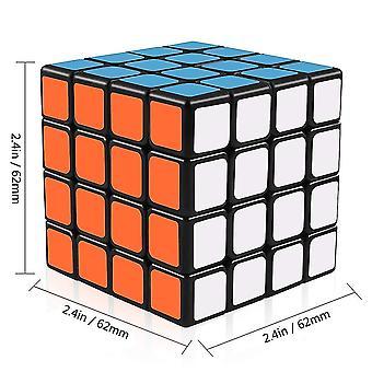 4x4 Stickerless Speed Rubik Cube, Base Noire Magic Rubik 6 Couleur