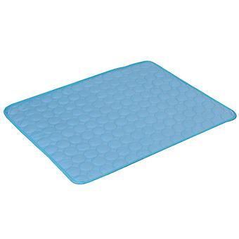 Chladiaca podložka pre domáce zvieratá sa ľahko čistí a vysušuje, je vhodná pre mačky a psy (tmavo modrá)