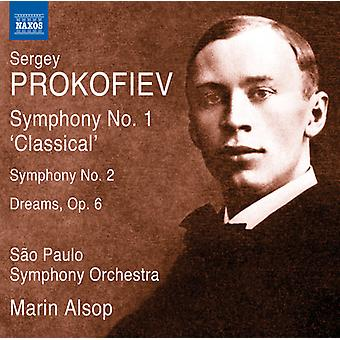 Prokofiev / Alsop / Sao Paulo Sym Orch - Syms 1-2 & drømmer Op. 6 [DVD] USA import