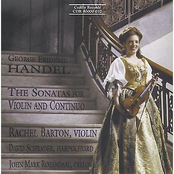G.F. Handel - Handel: The Sonatas for Violin and Continuo [CD] USA import