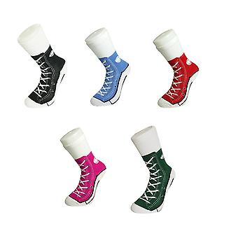 Sneaker socks shoe design sneaker of joke socks