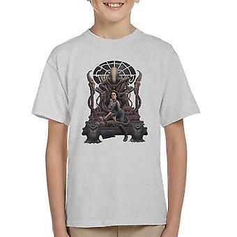 Alien Alternative Ending Ripley Chained Kid's T-Shirt