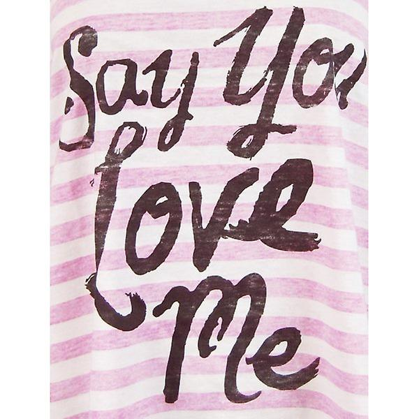 Mesdames alimentaires Junk Say You Love Me T-shirt, sucre