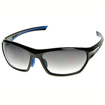 Modern Two-Tone Color TR90 Ventilated Frame Sport Sunglasses