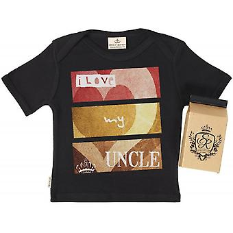 Spoilt Rotten I Love My Uncle Kids T-Shirt 100% Organic In Milk Carton