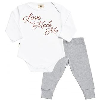 Spoilt Rotten Love Made Me Babygrow & Baby Jersey Trousers Outfit Set