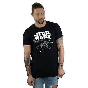 Star Wars Men's T-Shirt Jedi X-Wing ostatni