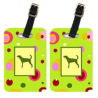 Carolines Treasures  CK1051BT Pair of 2 Plott Hound Luggage Tags