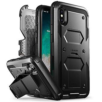 X iPhonegeval, [Armorbox] i-Blason gebouwd in [Screen Protector] [Full body] [Heavy Duty bescherming] [Kickstand], Iphone X