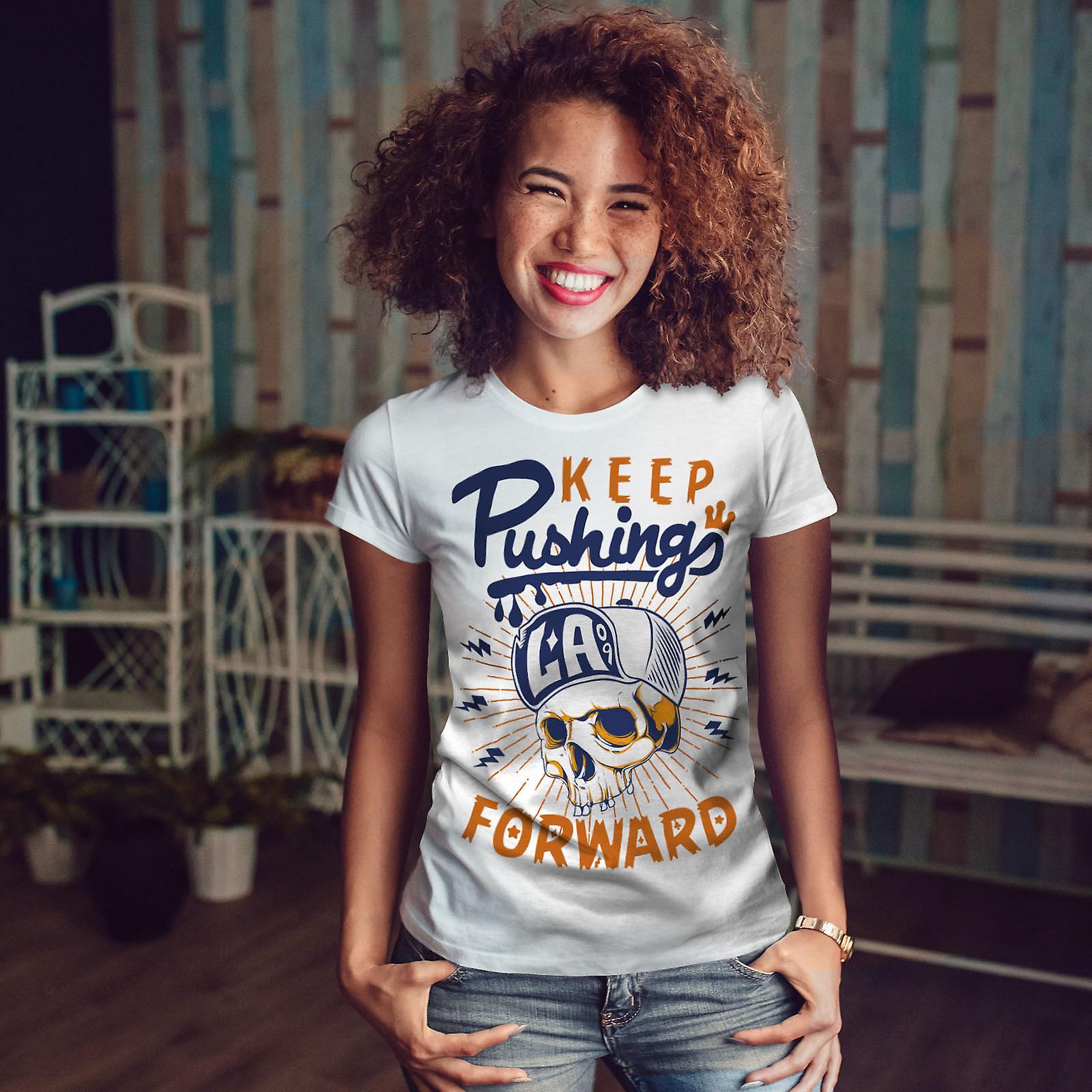 Continuer à pousser WhiteT-shirt femme   Wellcoda
