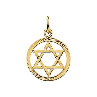 14k Yellow Gold Religious Judaica Star of David Pendant Necklace 13.25 Jewelry Gifts for Women