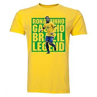 Ronaldinho Brasil jugador camiseta (amarillo)