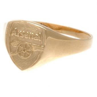 Arsenal 9ct Gold Crest Ring Small