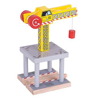 Bigjigs Rail Magnetic Big Yellow Crane Magnet Railway Train Track Accessories